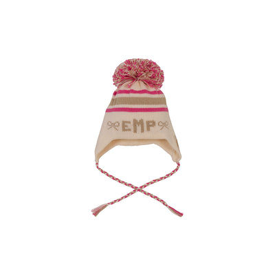 Parrish Pom Pom Hat - Palmetto Pearl with Keeneland Khaki and Hamptons Hot Pink