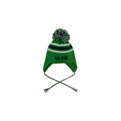 Parrish Pom Pom Hat - Kiawah Kelly Green with Nantucket Navy and Worth Avenue White