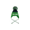 Parrish Pom Pom Hat - Nantucket Navy with Kiawah Kelly Green Micro Dots