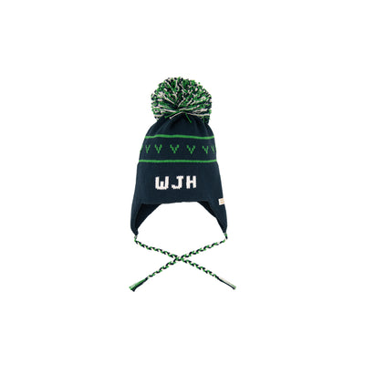 Parrish Pom Pom Hat - Nantucket Navy with Kiawah Kelly Green and Worth Ave. White