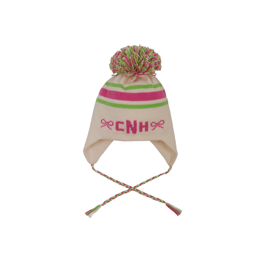 Parrish Pom Pom Hat - Palmetto Pearl with Lexington Lime and Hamptons Hot  Pink ... 7064a418a303