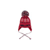 Parrish Pom Pom Hat - Richmond Red with Nantucket Navy and Worth Ave. White Snowflakes