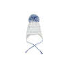 Parrish Pom Pom Hat - Worth Avenue White with Buckhead Blue and Rockefeller Royal