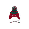 Parrish Pom Pom Hat - Richmond Red and Kelly Green with White