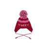 Parrish Pom Pom Hat - Richmond Red and Hamptons Hot Pink with White