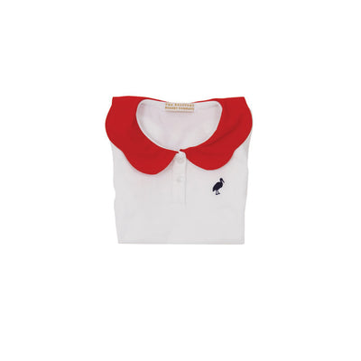 Patty's Pretty Polo - Worth Avenue White with Richmond Red & Nantucket Navy Stork