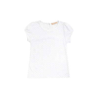 Penny's Play Shirt - Park City Periwinkle Micro Dot