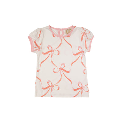 Penny's Play Shirt - Bluffton Bows with Sandpearl Pink