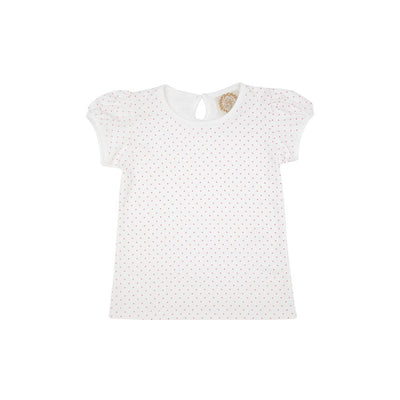 Penny's Play Shirt - Richmond Red Micro Dot