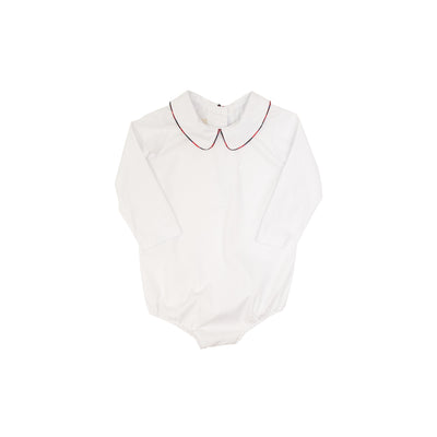 Peter Pan Collar Shirt (Long Sleeve Woven) - Worth Ave. White with Pelham Manor Plaid