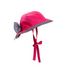 Pippa Petal Hat - Winter Park Pink with Nantucket Navy Stripe
