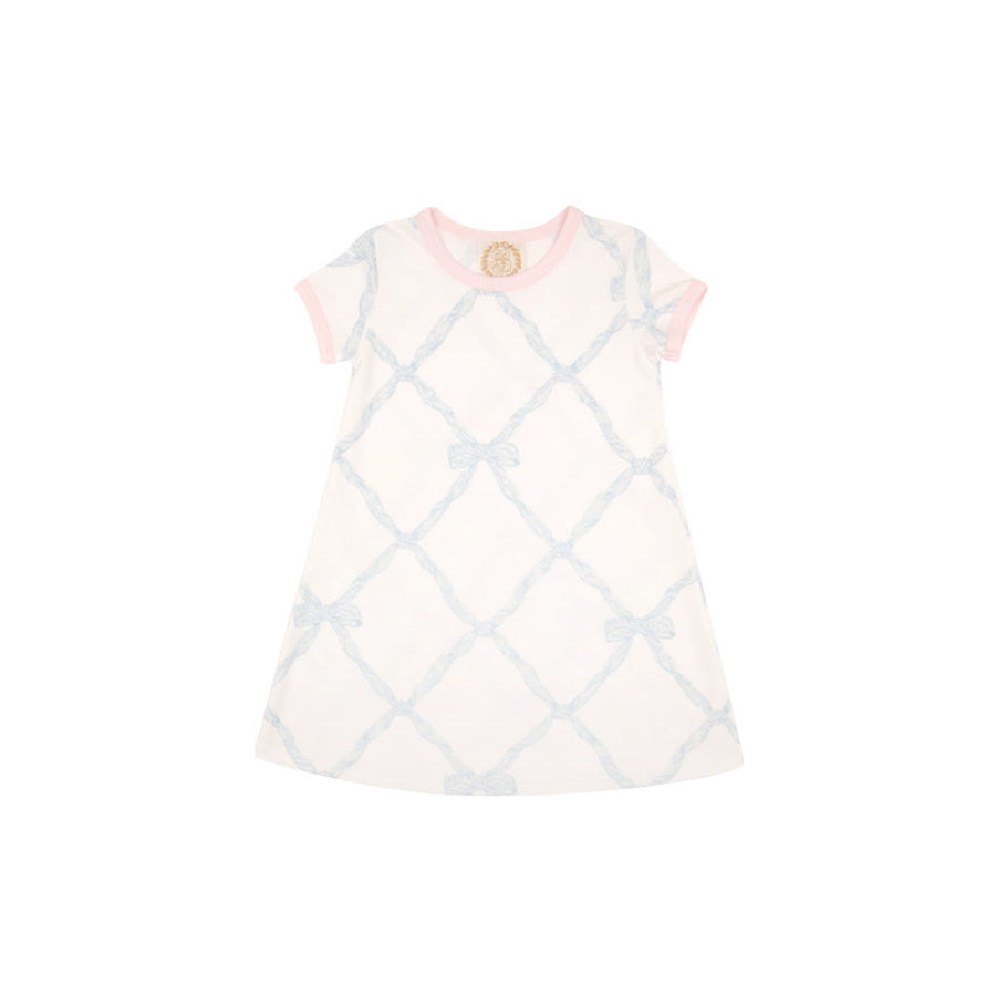 15a37c9d3 Polly Play Dress - Belle Meade Bow Buckhead Blue with Plantation Pink Trim  ...