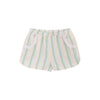 Pollyanna Pocket Shorts - Rainbow Row Stripe with Palm Beach Pink and Worth Avenue White