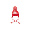 Pratt Pom Pom Hat - Worth Avenue White & Richmond Red Stripes