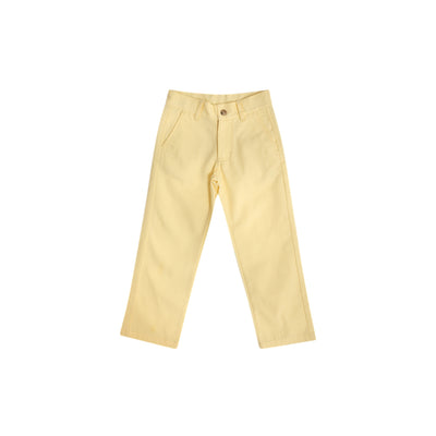 Prep School Pants - Bellport Butter Yellow with Worth Avenue White Stork