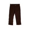 Prep School Pants (Corduroy) - Chelsea Chocolate with Khaki Stork