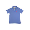 Prim & Proper Polo - Barbados Blue with Royal Palm Raspberry Stork