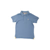 Prim & Proper Polo - Buckhead Blue with Two-Tone Stork