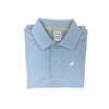 Prim and Proper Polo Onesie - Buckhead Blue with White Stork