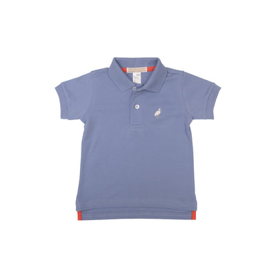 Prim & Proper Polo - Park City Periwinkle with Multicolor Stork