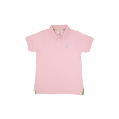 Prim and Proper Polo - Palm Beach Pink with Buckhead Blue Stork