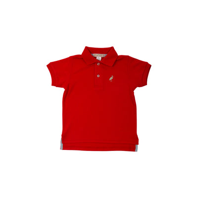 Prim & Proper Polo - Richmond Red with Keeneland Khaki Stork
