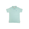Prim & Proper Polo - Sea Island Seafoam with Boone Hall Blue Stork
