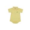 Prim & Proper Polo Onesie - Seaside Sunny Yellow with Kiawah Kelly Green Stork