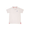 Prim & Proper Polo - Worth Avenue White with Rockefeller Royal Stork