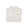 Prim & Proper Polo - Worth Avenue White with Grantham Green Stork