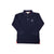 Prim & Proper Polo Long Sleeve Shirt - Nantucket Navy with White Stork