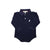 Prim & Proper Polo Long Sleeve Onesie - Nantucket Navy with White Stork