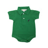 Prim & Proper Polo Onesie - Kiawah Kelly Green with Nantucket Navy Stork