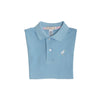 Prim & Proper Polo - Brookline Blue with Multicolor Stork