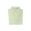 Prim & Proper Polo - Marietta Mint Stripe with Hamptons Hot Pink Stork