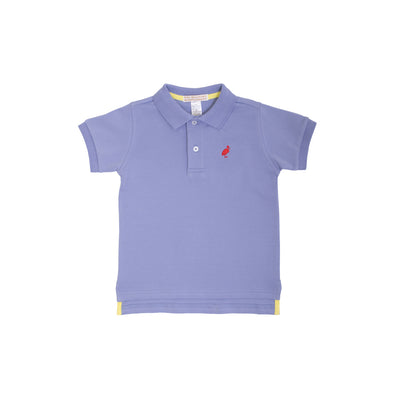 Prim & Proper Polo - Park City Periwinkle with Richmond Red Stork