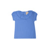 Ramona Ruffle Collar Shirt (Short Sleeve Pima) - Barbados Blue
