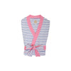 Ready or Not Robe (Ladies) - Park City Periwinkle Stripe with Hamptons Hot Pink