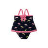 Stratford Scallop Swimsuit - Sunshine on a Rainy Day with Hamptons Hot Pink