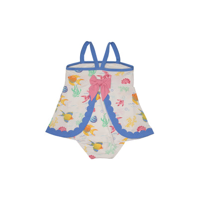 Sanctuary Scallop Swimsuit - Fripp Fishies with Barbados Blue