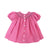 Sandy Smocked Dress - Hamptons Hot Pink with Pink and Blue Smocking