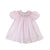 Sandy Smocked Dress - Plantation Pink with Flower and Bow Scalloped Smocking