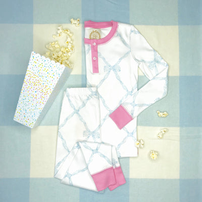 Sara Jane's Sweet Dream Set - Belle Meade Bow Buckhead Blue with Hamptons Hot Pink