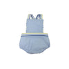 Sayre Sunsuit - Boardwalk Blue Pique with Saltwater Stripe