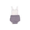 Sayre Sunsuit - Worth Avenue White with Nantucket Navy Gingham