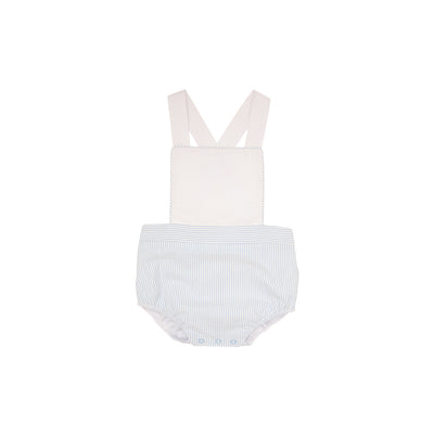 Sayre Sunsuit - Worth Avenue White with Breakers Blue Seersucker