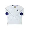 Scott Stadium Sleeve - Worth Avenue White with Rockefeller Royal
