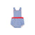Seabrook Sunsuit - Park City Periwinkle with Richmond Red