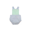 Seabrook Sunsuit - Sea Island Seafoam with Beale Street Blue Stripe