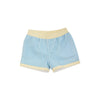 Sheffield Shorts - Brookline Blue Windowpane with Bellport Butter Yellow Trim & Stork